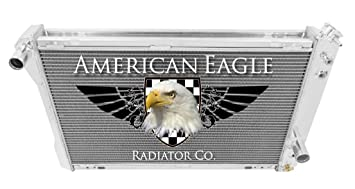 "1982-1992 Pontiac Firebird Trans Am Alum 2 Row 1/""Tubes American Eagle Radiator"