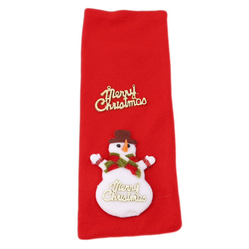 GUAngqi Christmas Santa Claus Bear Snowman Reindeer Wine Bottle Decoration for Xmas Gift Dinner Party Table Decor by GUAngqi (Image #1)