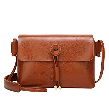 5550052abbea Amazon.com: Messenger Bag JIUDASG Women Leather Flap Hollow Tassel ...