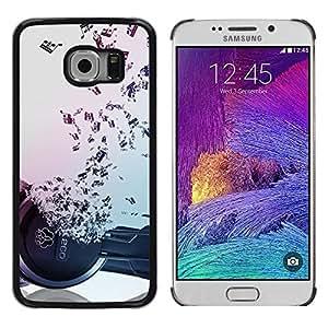 Be Good Phone Accessory // Dura Cáscara cubierta Protectora Caso Carcasa Funda de Protección para Samsung Galaxy S6 EDGE SM-G925 // Music Notes Hiphop Dance Rap