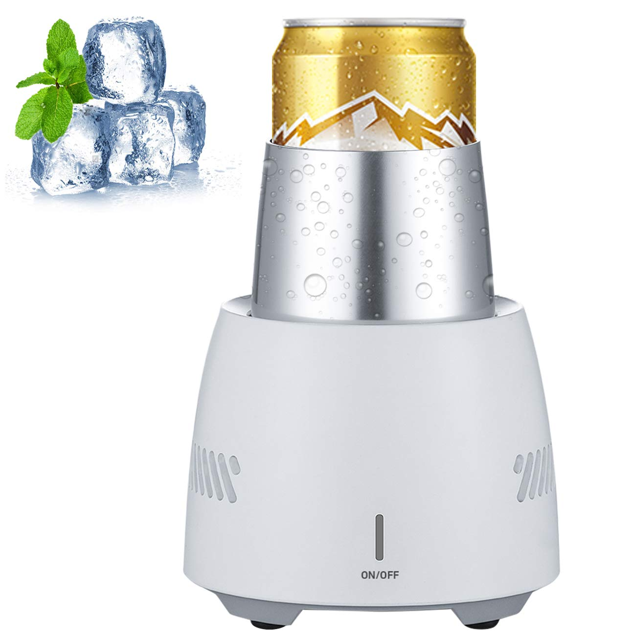 ETUOLIFE Fast Ice Cooling Cup Machine for Home Office - White