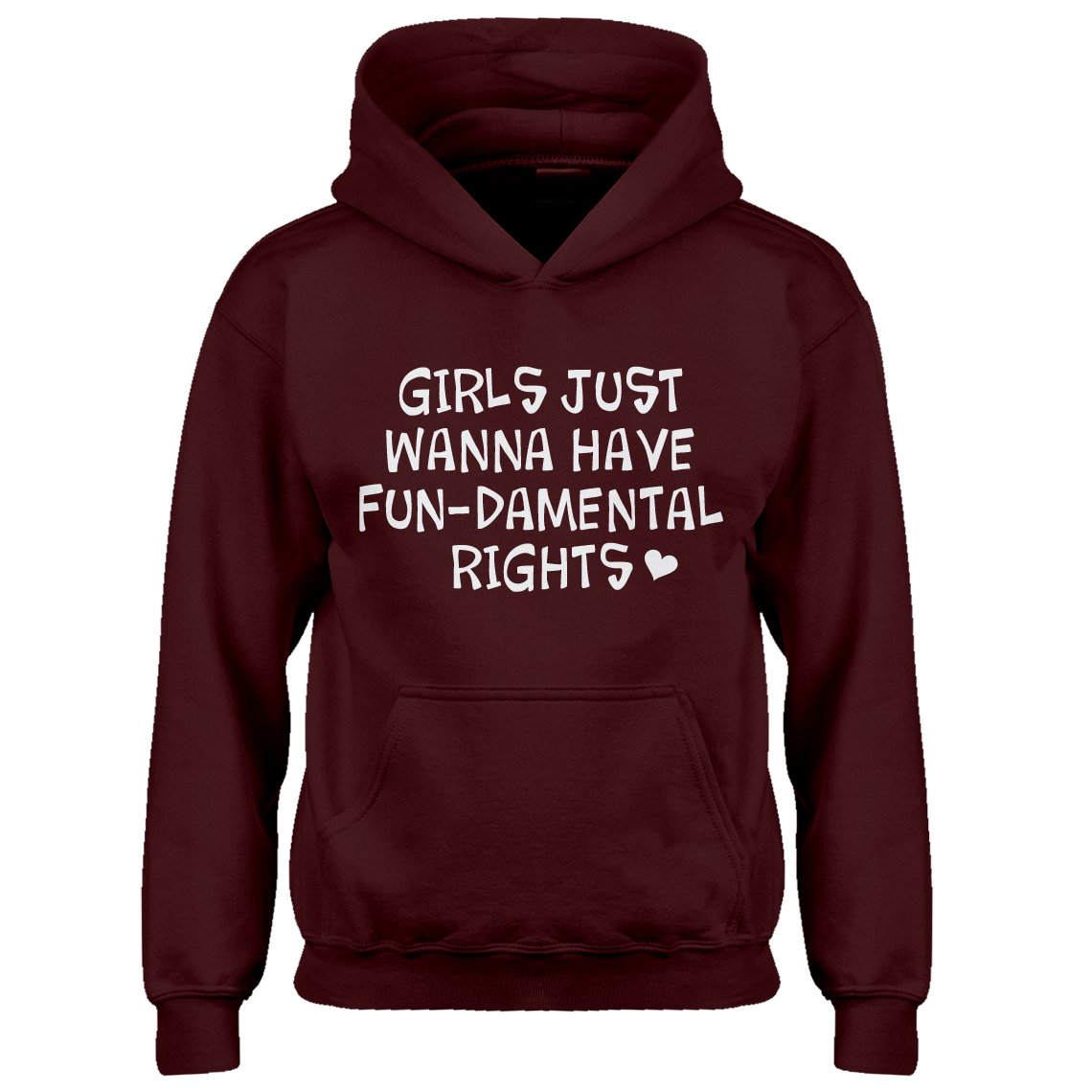 Indica Plateau Youth Girls Wanna Have Fundamental Rights Kids Hoodie