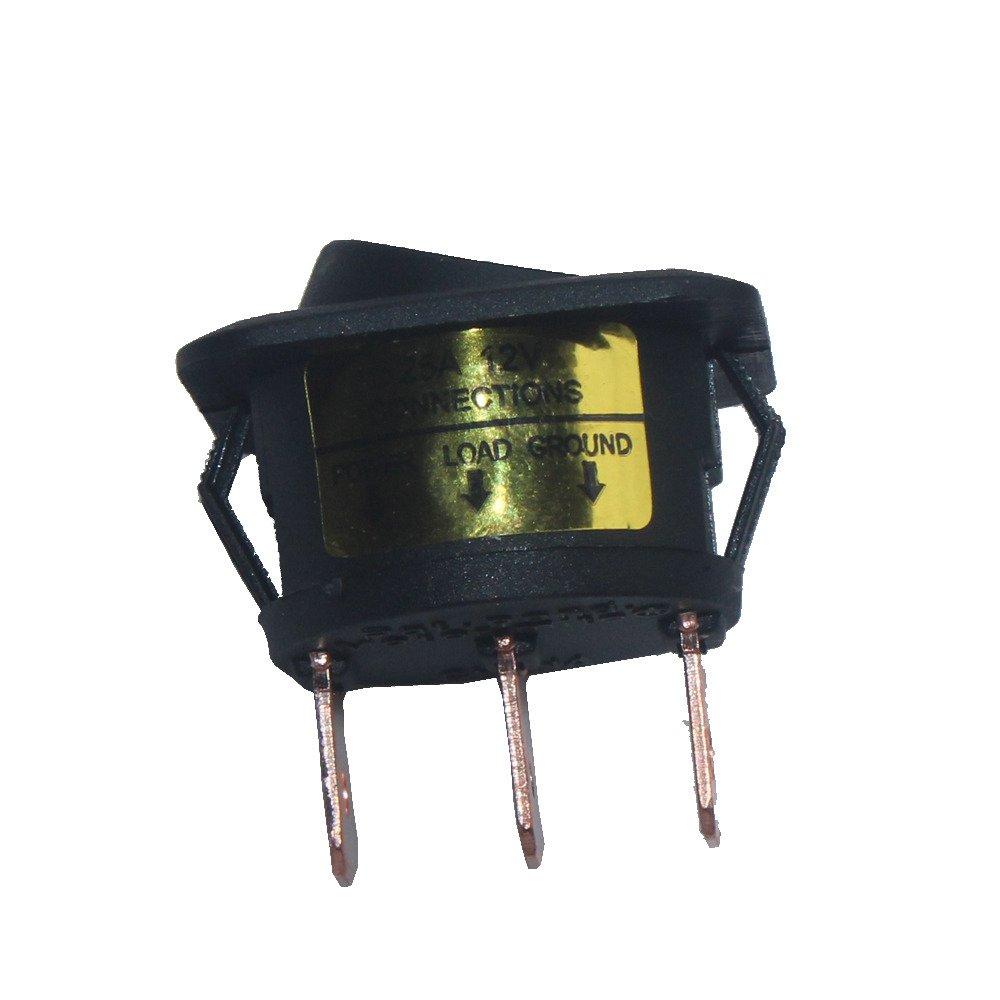 Mintice 4 St/ück 12V 25A KFZ Schalter EIN//AUS Wippenschalter LED Beleuchtet Schalter Blau Rot Gr/ün Gelb 25mm