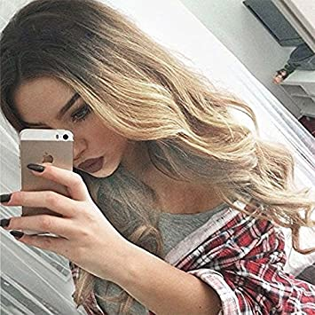 Amazoncom 24 Long Ombre Hair Blonde Curly Hair Wigs For Women