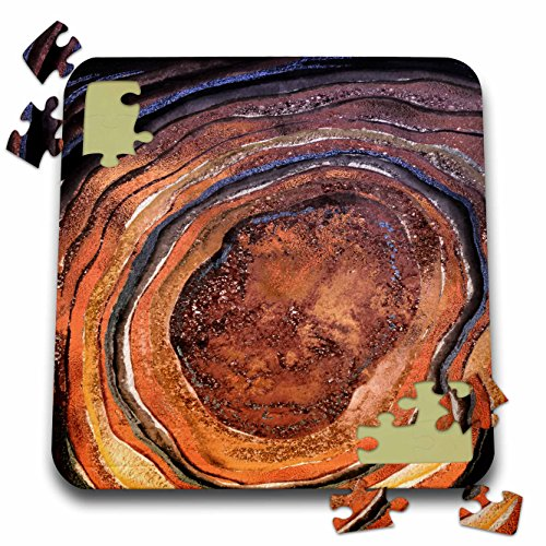 Uta Naumann Faux Glitter Pattern - Image of Brown Copper Metal Foil Glitter Marble Fashion Agate - 10x10 Inch Puzzle (pzl_275081_2) ()