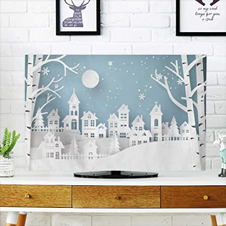 Analisahome Patines Proteger tu televisor en Invierno con Copos de Nieve para Proteger tu televisor de 48,26 cm de Ancho x 76,2 cm de Alto.: Amazon.es: Hogar