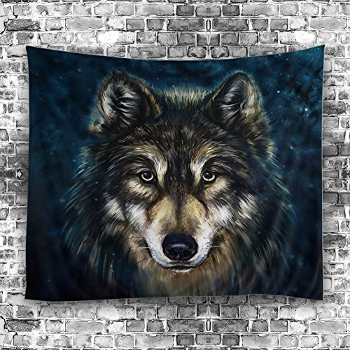 Xinhuaya Realistic Wolf Printed Wall Hanging Tapestry with Romantic Pictures Art Nature Home Decorations for Living Room Dorm Bedroom Decor in 51x60 inches (51 W by 60'' L, Multi 28) by Xinhuaya (Image #1)