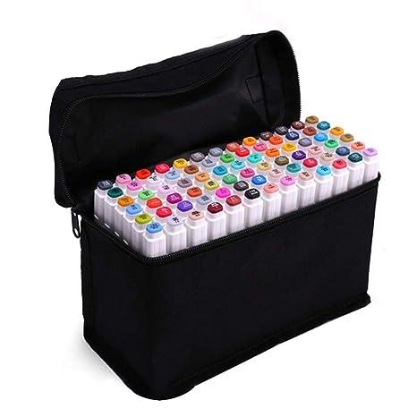 Amazon.com: YOULIAN Juego de rotuladores de arte con bolsa ...