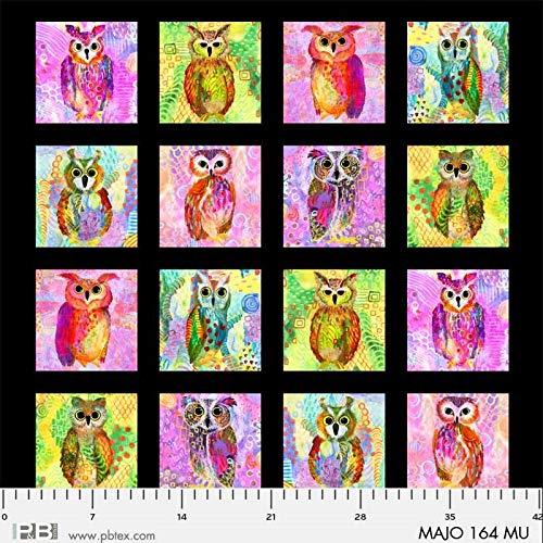 Homespun Hearth Majestic Owls - Digital Panel - by P&B Textiles