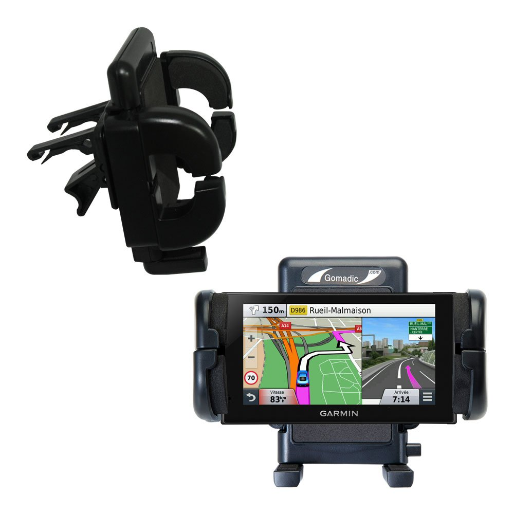 Innovative Vent Cradle Vehicle Mount designed for the Garmin nuvi 2669 / 2689 LMT - Adjustable Vent Clip Holder for Most Car / Auto Vent Systems