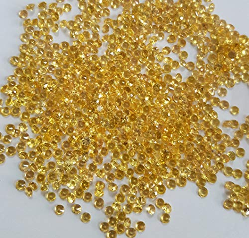Sapphire Yellow Heated - Natural 1.5 mm heated Loose Yellow Sapphire Diamond Cut Round AAA Quality 20 Pieces Lot