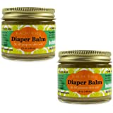 BALM! Baby Diaper Balm Natural Diaper Rash Balm & ALL Purpose Skin Aid {2oz./60mL GLASS Jar} (2 Pack)…