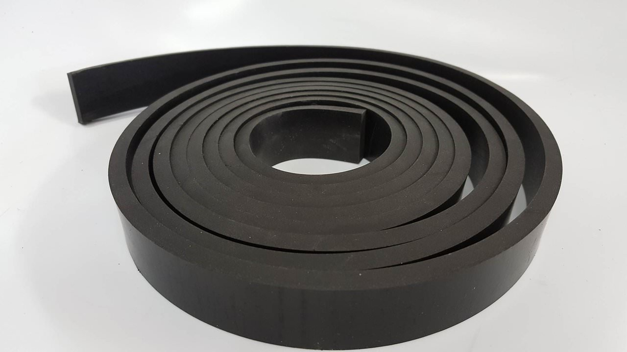 Rubber Sheet Warehouse .062'' (1/16'') Thick x 5'' Wide x 20' Long -Neoprene Rubber Strip Commercial Grade 65A, Smooth Finish, Solid Rubber, Perfect for Weather Stripping, Gasket, Costume & DIY by Rubber Sheet Warehouse