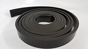 """Rubber Sheet Warehouse .250"""" (1/4"""") Thick x 1"""" Wide x 5' Long -Neoprene Rubber Strip Commercial Grade 65A, Smooth Finish, Solid Rubber, Perfect for Weather Stripping, Gasket, Costume & DIY Projects …"""