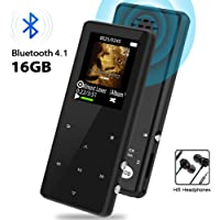 Semier 16GB Bluetooth Lossless MP3 Player with FM Radio/Recorder Touch Button Music Speaker