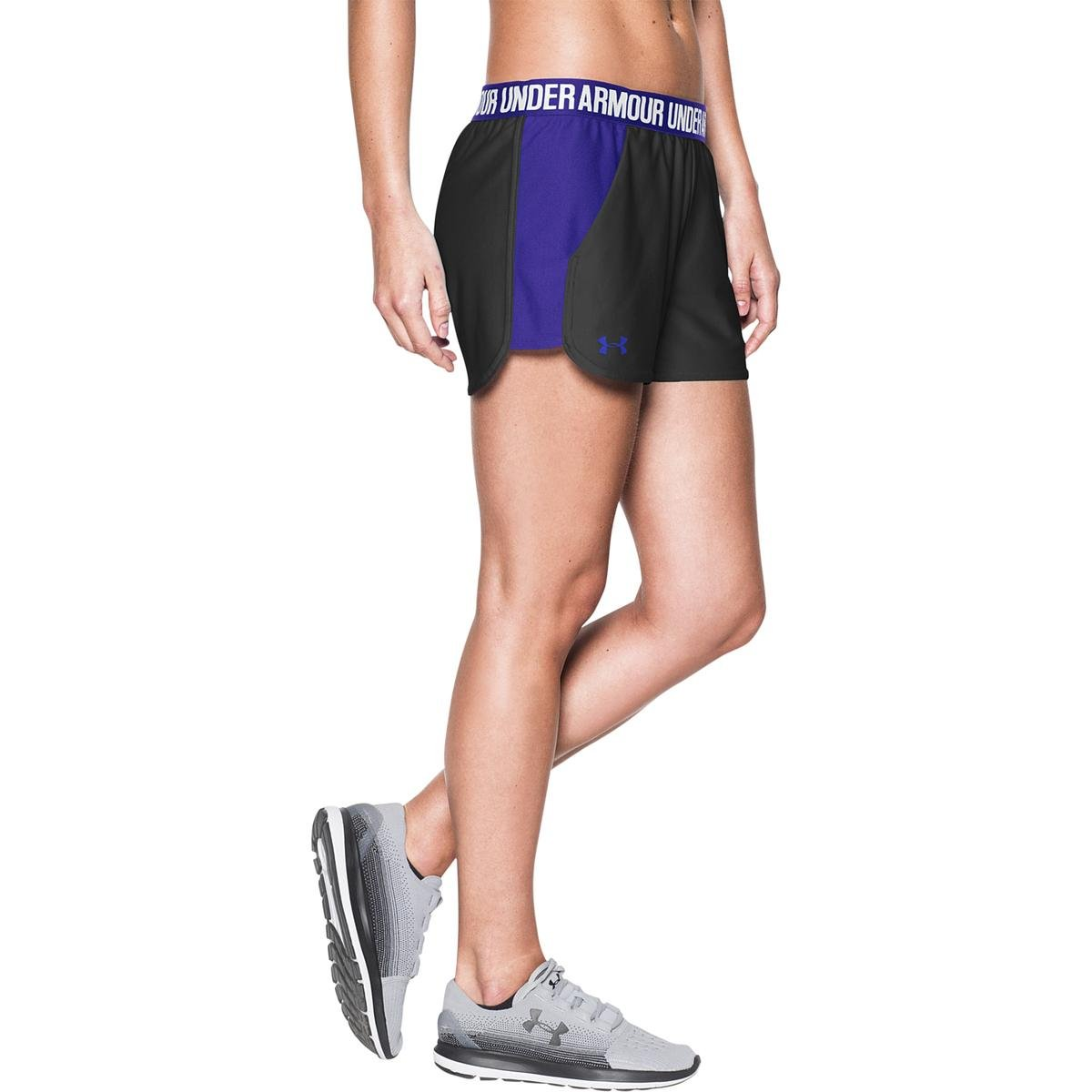 (アンダーアーマー) UNDER ARMOUR プレイアップショーツ(トレーニング/ショートパンツ/WOMEN)[1292231] B01KYUXKAM MD (US 8-10) 3|Black/Constellation Purple/Constellation Purple Black/Constellation Purple/Constellation Purple MD (US 8-10) 3