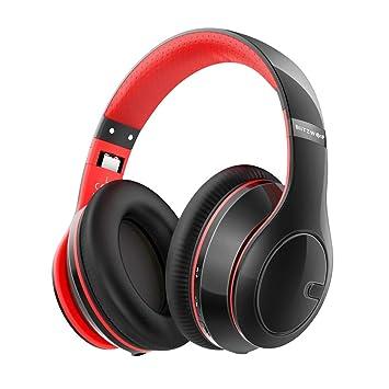 Auriculares Diadema Bluetooth, BlitzWolf Auriculares Bluetooth Estéreo HiFi con Micrófono, Hasta 13 Horas de