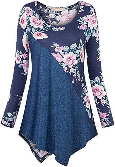 Camisa Asimétrica De Manga Larga para Mujer Camisa con ...