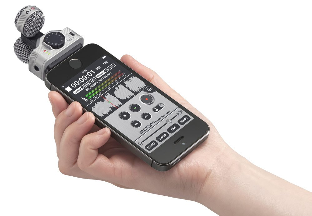 Zoom iQ7 Mid-Side Stereo Microphone for iOS Devices
