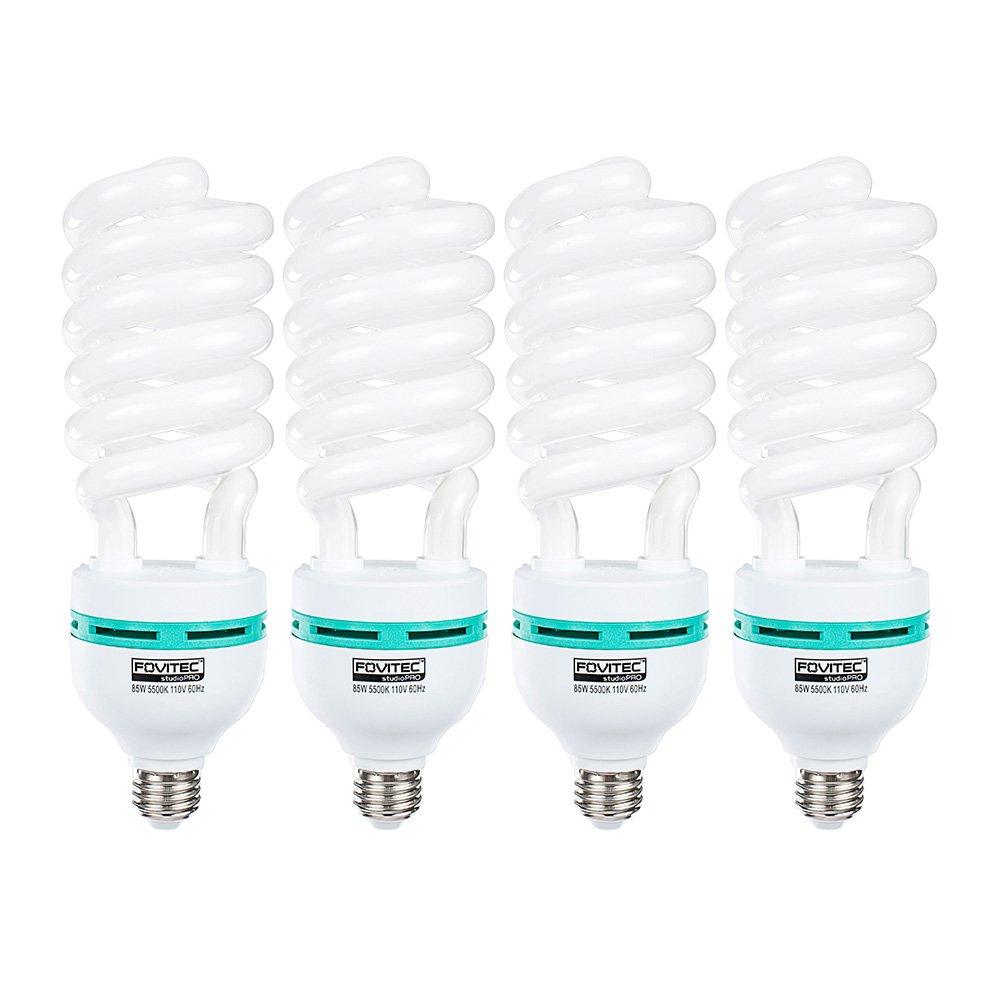 FovitecStudioPRO - 4x 85 Watt Daylight Fluorescent Light Bulb - [4 Pack][85W][5500K][CFL][Full Spectrum]