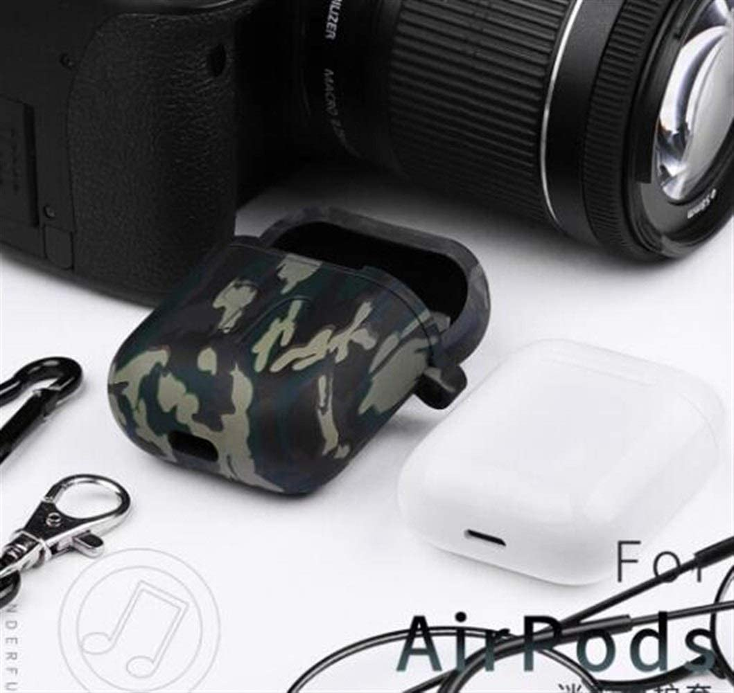 Color : Black MINRUIGONGMAO Headphone Cover Silicone Case Cover,AirPods Earphone Set Anti-Drop Storage AirPods Case//Anti-Lost Silicone Shell//Gift