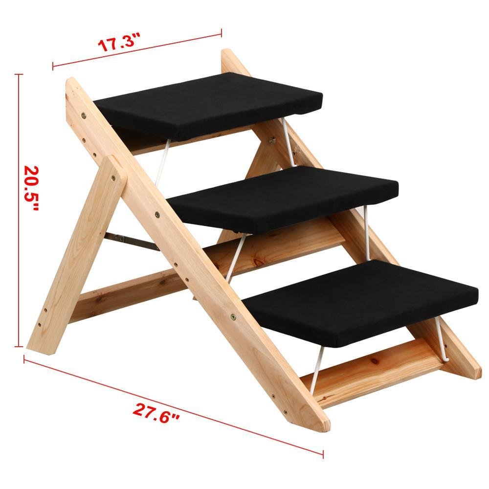 Yaheetech Folding Pet Ramp Stairs For Dog Cat Steps Ladder Amazoncouk Supplies