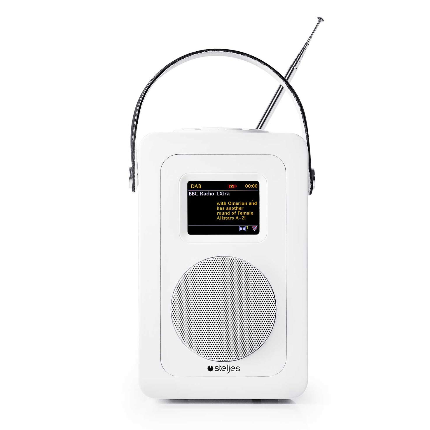 Steljes Audio SA60 Radio Internet Altavoz Bluetooth, Radio Dab con WiFi Portatiles Dab + Dab + Radio con Transmisión FM, Internet Radio con WiFi para Teléfono Móvil de iOS y Android