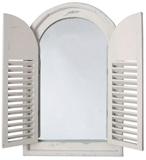 5 Pieza Esschert Diseño Espejo de Pared, Perchero Espejo con ...