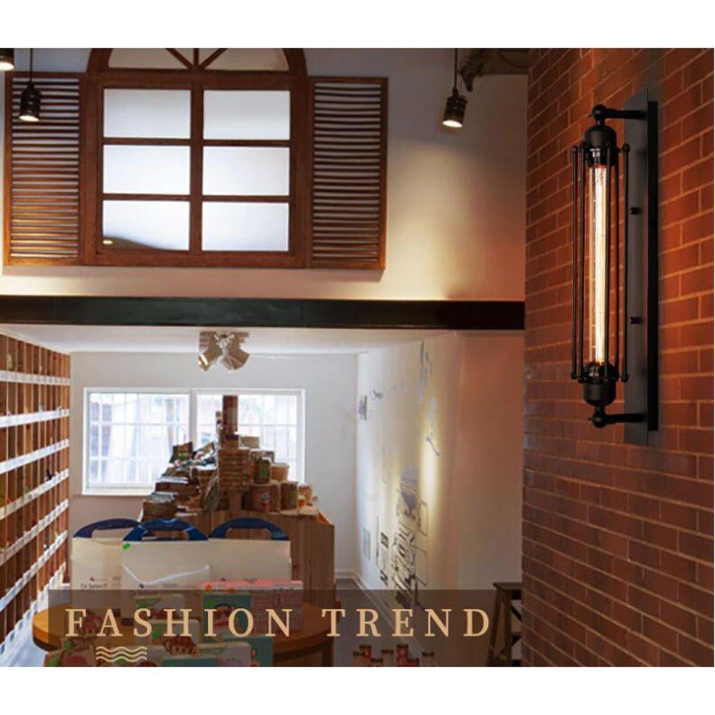E26 Lampe Socket Cuisine Salon et Chambre Applique Murale Industrielle SUN RUN en M/étal avec Style R/étro pour Barre Applique Murale Vintage