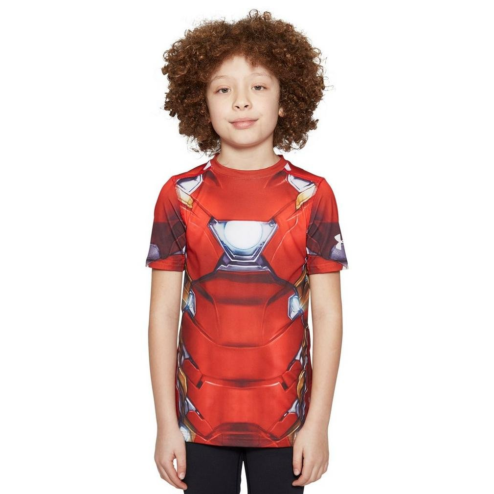 Under Armour Unisex HeatGear Fitted Iron Man Suit Short Sleeve Funktionstshirt