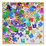 21' And Stars Confetti (Pack of 96)