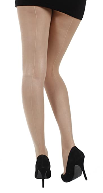1920s Style Stockings & Socks Nude Jive Seamed Tights - Also Available in XL & XXL  AT vintagedancer.com