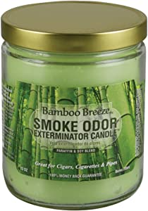 Smoke Odor Exterminator 13oz Jar Candle, Bamboo Breeze, 13 oz