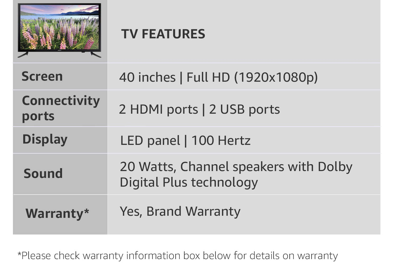 Samsung 100 Cm Full Hd Led Tv Ua 40k5000 Electronics Ua40j5000 40 Inch