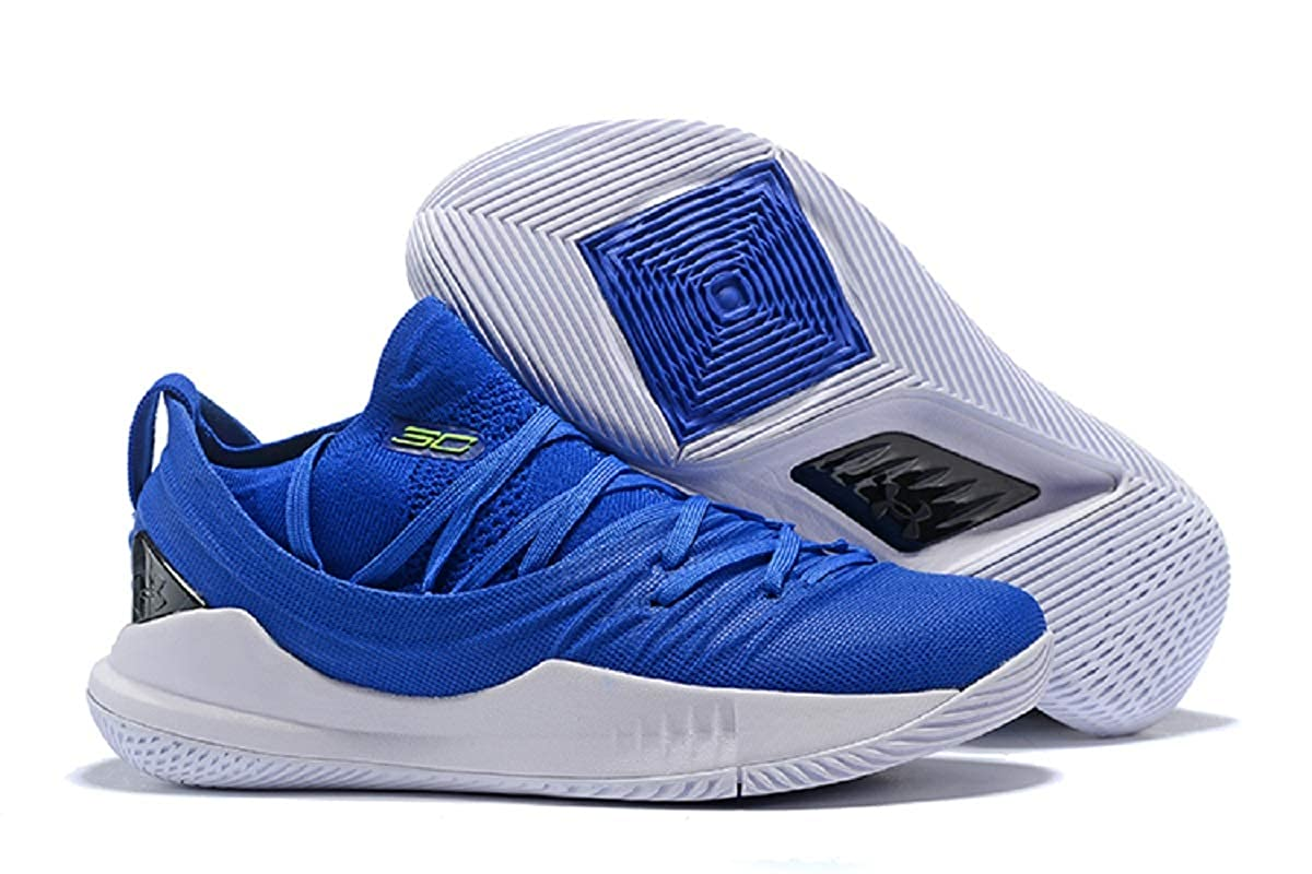 ae2dd82a8cde UnderArmour Stephen Curry 5 Low Royal Blue White Basketball Shoes for Men  (10 UK)  Buy Online at Low Prices in India - Amazon.in