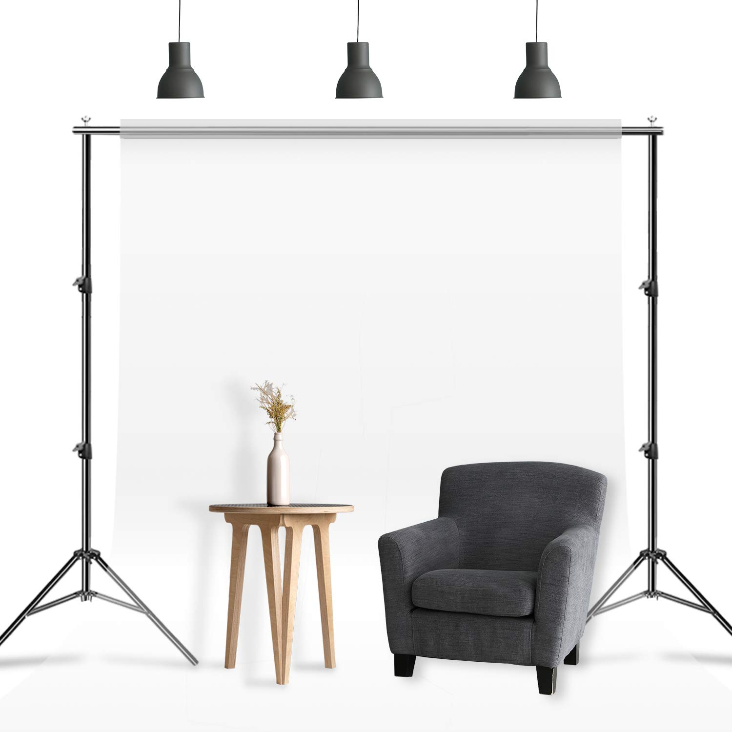 Julius Studio 10 ft Max Wide Adjustable Background Support Stand/Equipment Used in Photo Video Studio for Backdrops with, Muslins with Carry Bag, LNA1106 by Julius Studio (Image #5)