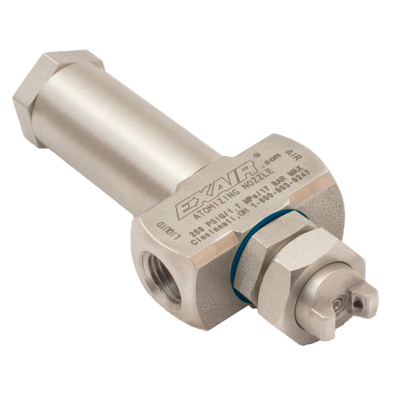 EXAIR EB2010SS No Drip Atomizing Nozzle, 3.8 GPH Maximum Flow Rate, 14.4 LPH Max