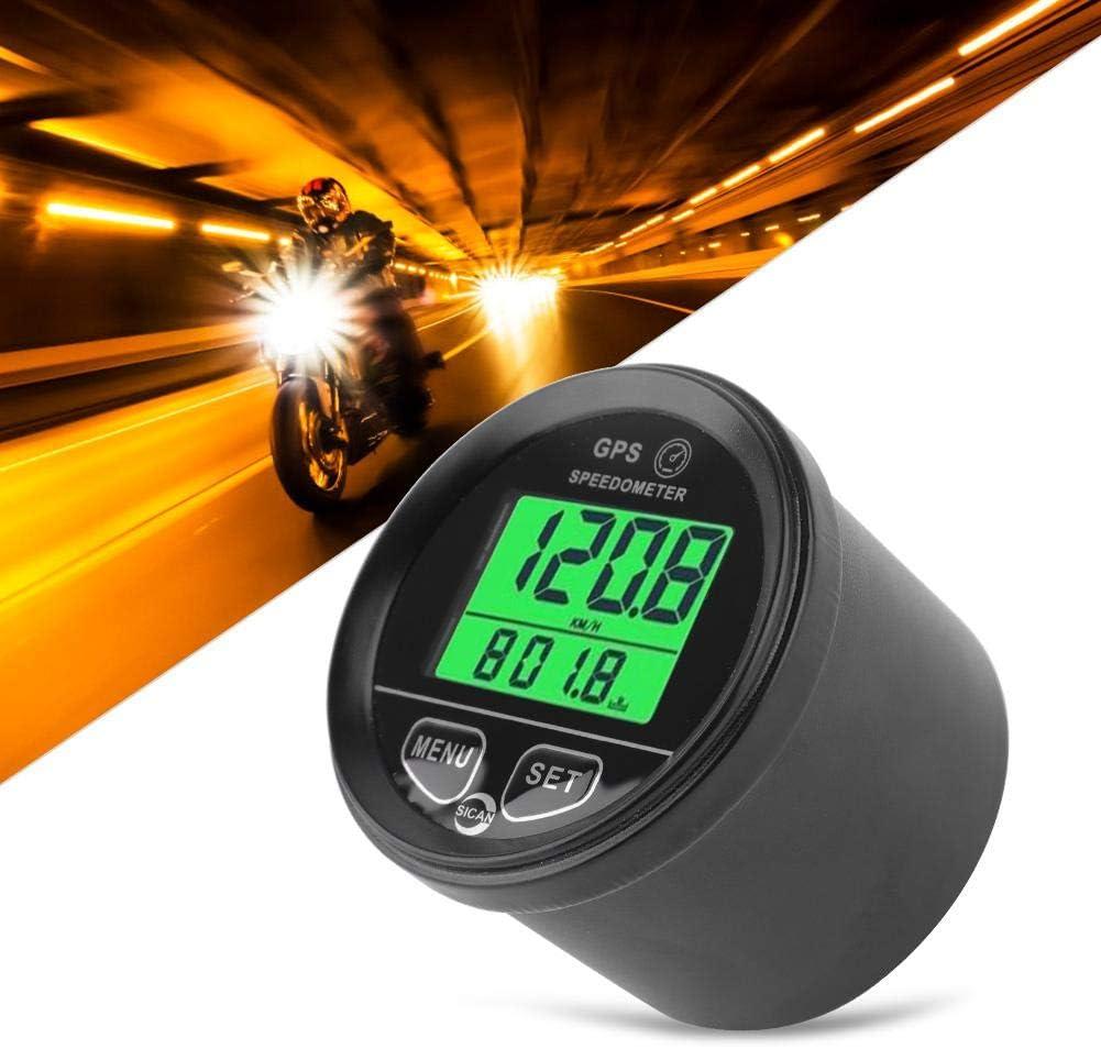 Digital 60mm 999kmh LCD Backlight GPS Speedometer Odometer For Car Motorcycle UK