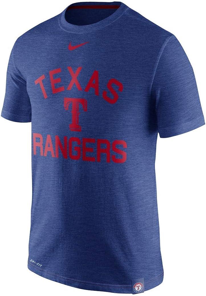 Nike MLB Texas Rangers Blue Arch Logo Dri-Fit T-Shirt