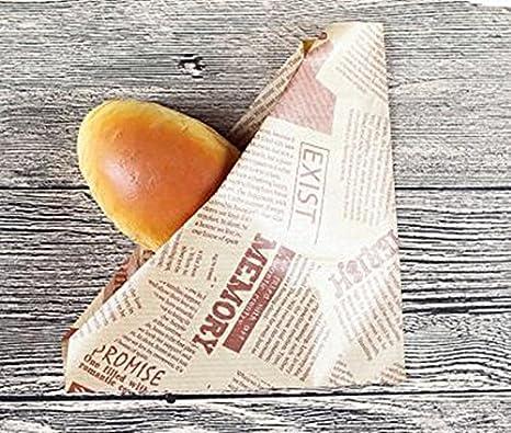 Papel de estraza triángulo bolsa Donuts Sandwich Pan ...