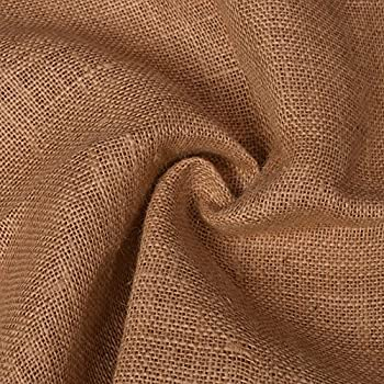 Image of 43' Premium Weave Jute Fabric Burlap Craft Natural Eco-Friendly Upholstery Fabric Solid Pattern Table Runner By The Yard Home and Kitchen
