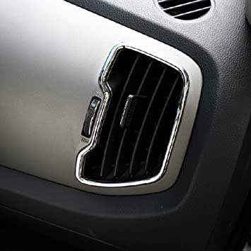 Car Styling Interior AC Air Conditioner Moldura de ventilación Cubierta de ABS Chrome 6PCS / SET: Amazon.es: Coche y moto