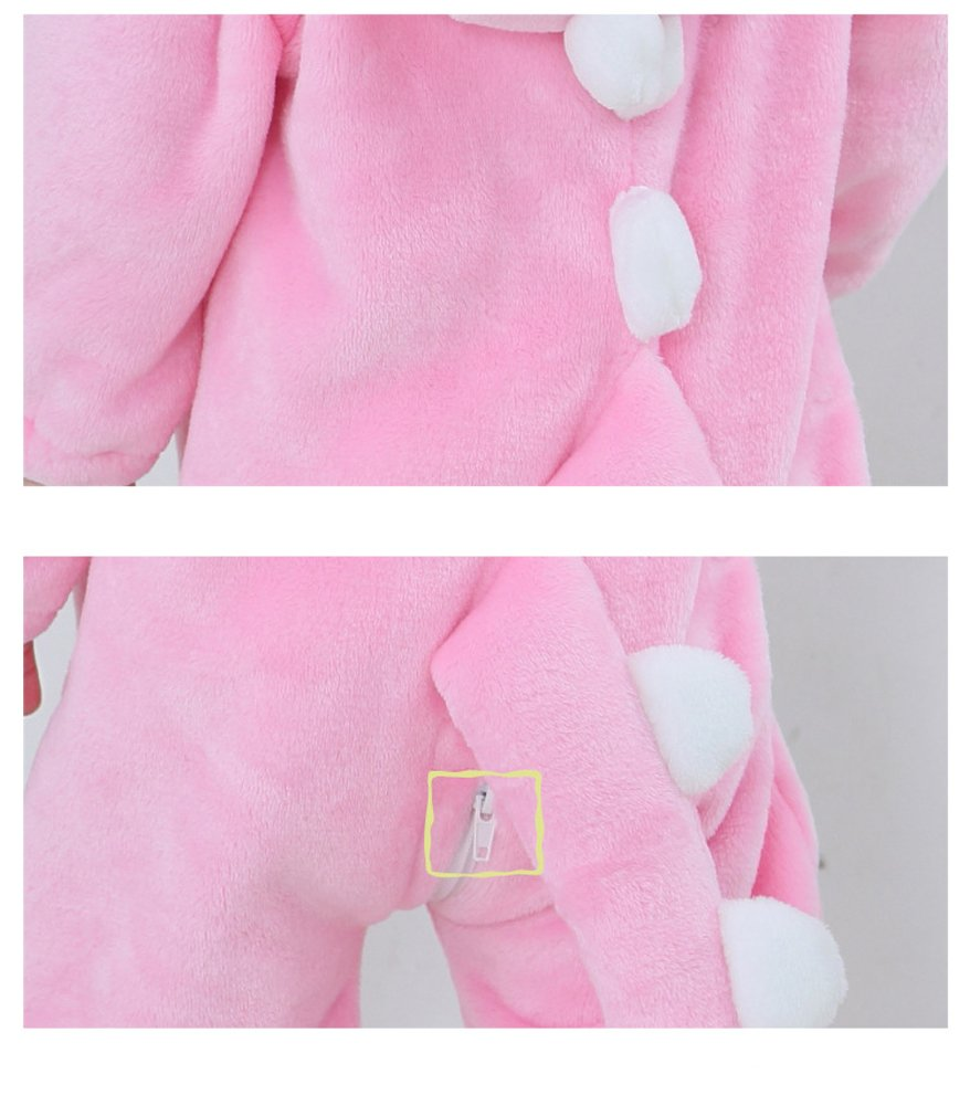 Tonwhar Toddler Infant Tiger Dinosaur Animal Fancy Dress Costume (70(Height:22''-26''/Ages 0-6 Months), Pink) by Tonwhar (Image #6)