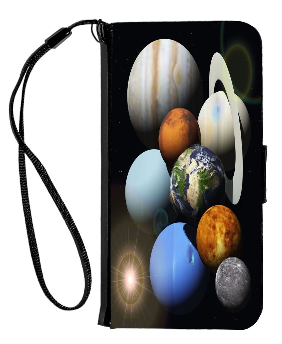 Rikki Knight iPhone 6 & 6s PU Wallet Flip Case with Kickstand and Magnetic Flap - Solar Planet