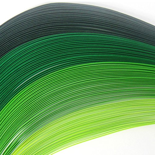 Tones of Green - 5 mm - 100 Quilling Strips
