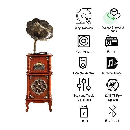 GOM Sistema de Altavoces Bluetooth para Reproductor de grabación ...