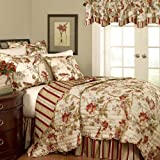 Waverly Charleston Chirp Papaya Reversible Quilt Set Twin Quilt Set
