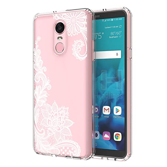 the best attitude 6a64d 67c59 LG Stylo 4 Case, LG Q Stylus Case, LG Stylo 4 Plus Case, LEEGU Anti-Scratch  Shockproof Floral Printed Clear Hard Plastic and TPU Gel Bumper Protective  ...