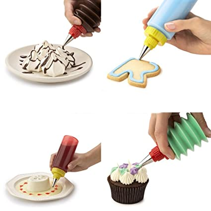 Amazon SUPOW Cake Squeeze Bottles Dessert Cookie Cupcake Classy Cookie Decorating Squeeze Bottles
