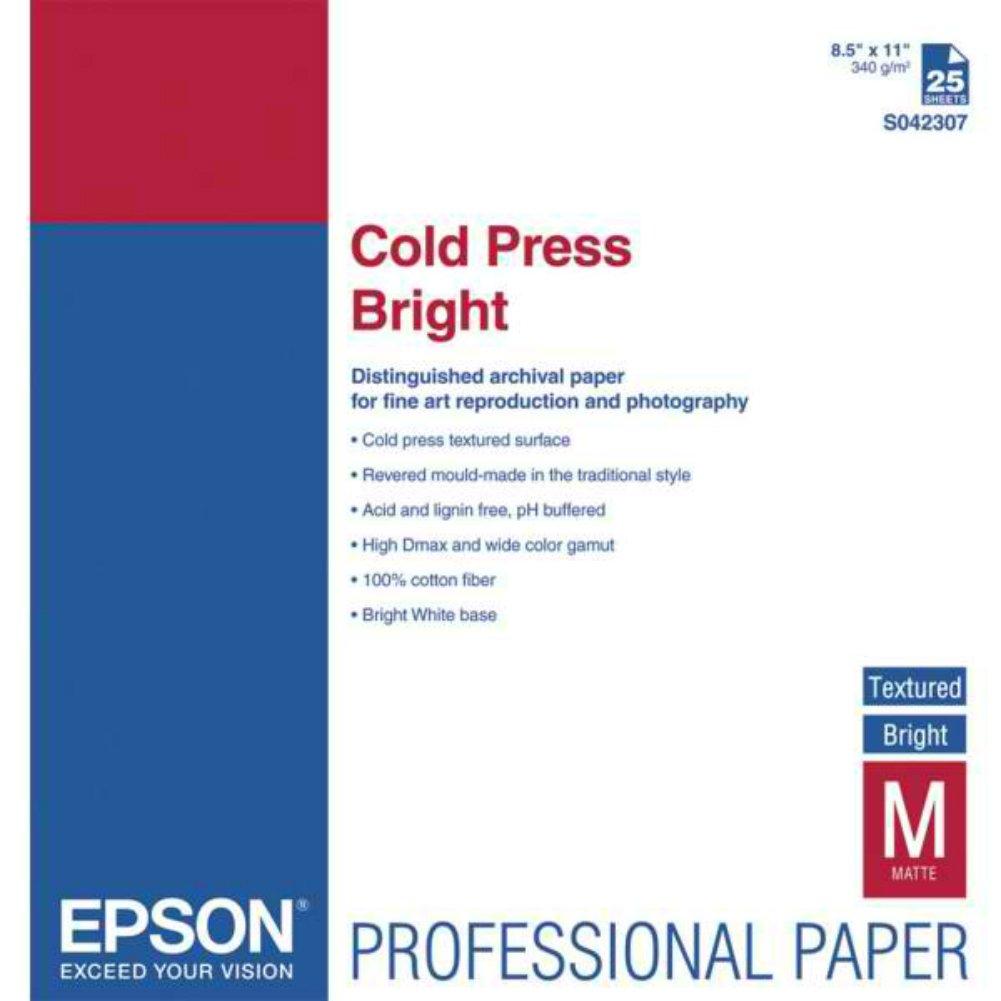 PAPER, EPSON, COLD PRESS BRIGHT - S042307 by Epson